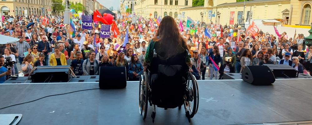 patricia koller - rede auf Demo Ein Europa Für Alle
