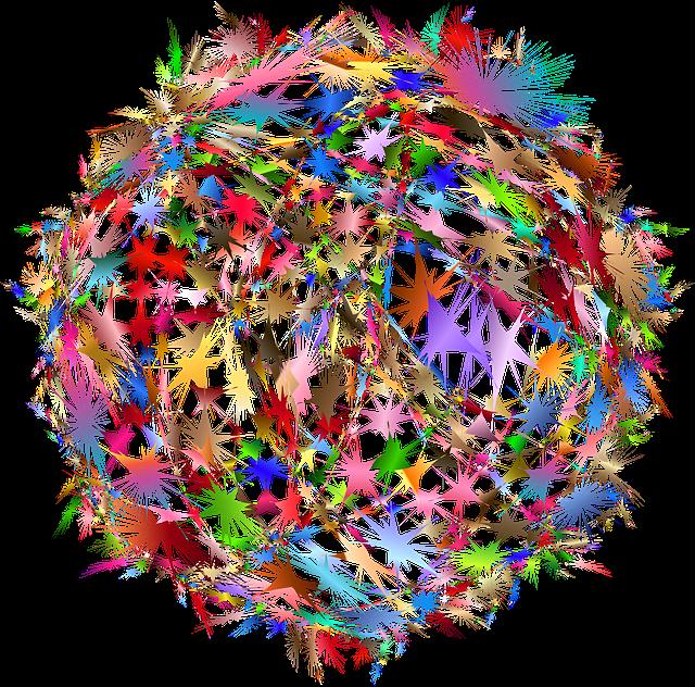 Farbenfrohes Netzwerk