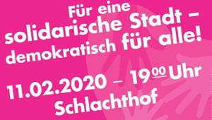Podiumsdiskussion im Wirtshaus im Schlachthof am 11.2.2020