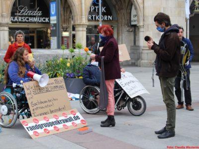 Behinderter Behindertenprotesttag