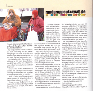 Artikel in der Courage