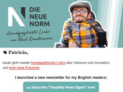Meine Kolumne im Newsletter von Raul Krauthausen