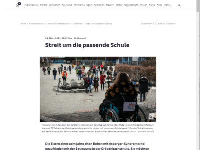Die Süddeutsche berichtet über unsere Demonstration in Gröbenzell