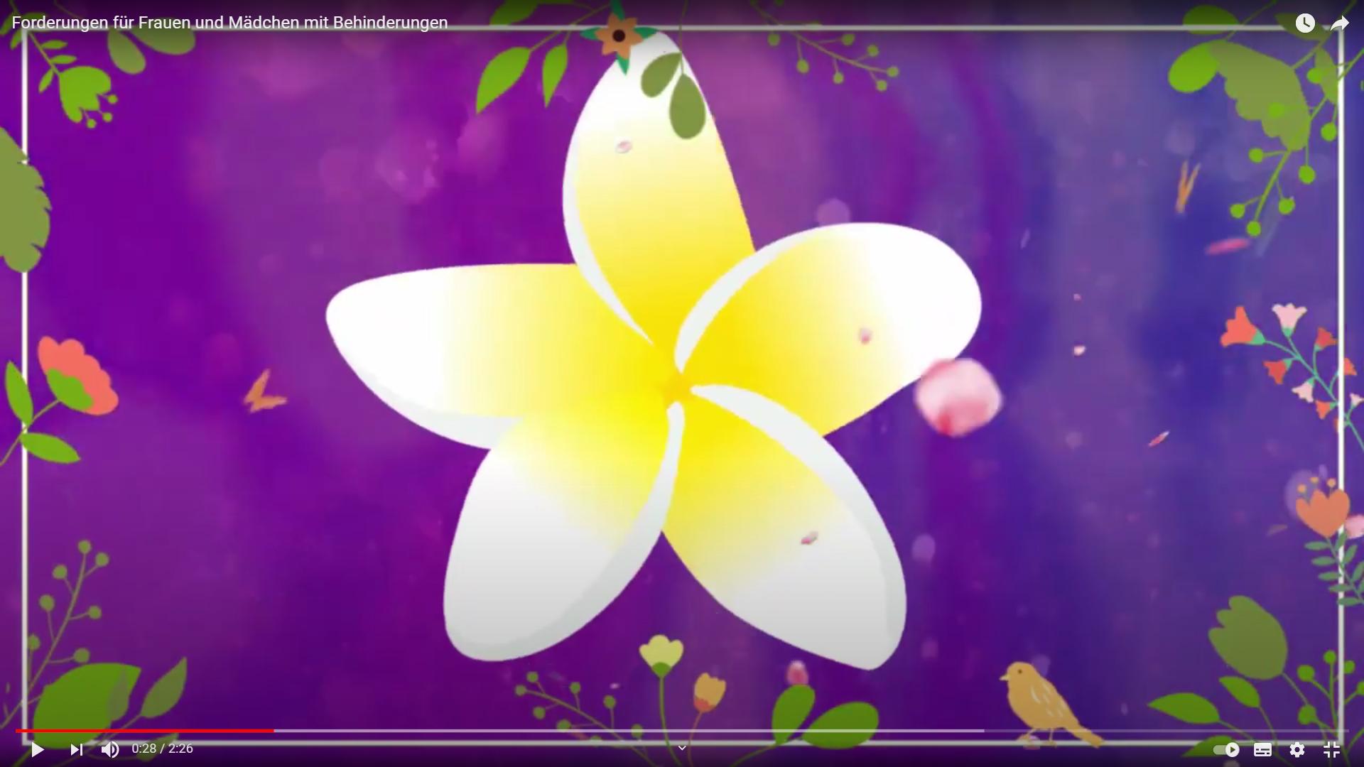Screenshot mit weißer Blume