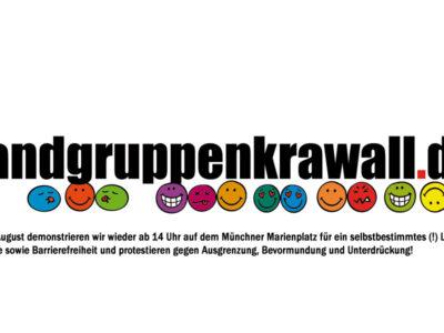 Randgruppenkrawall Behindertenprotest am 1. August 2021
