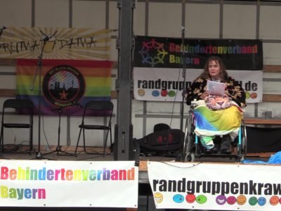 Videos vom Randgruppenkrawall Behindertenprotest am 1. August 2021